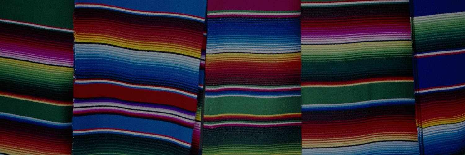 Textile cloths of different colors